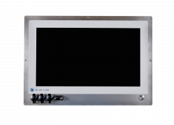 "21.5"" HMI monitor for in-wall mounting in cleanroom"