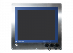 "19"" HMI monitor for in-wall mounting in cleanroom"