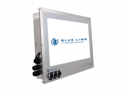 "21.5"" HMI monitor for in-wall mounting in cleanroom - Example of I/O configuration"