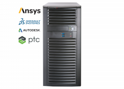 Supermicro Workstation 5039A-I - Ansys, Dassault systemes, PTC and Autodesk