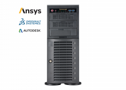 Supermicro Workstation 5049A-T - Ansys, Dassault systemes and Autodesk